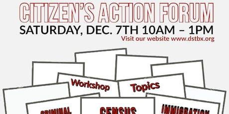 Citizen Action Forum tickets