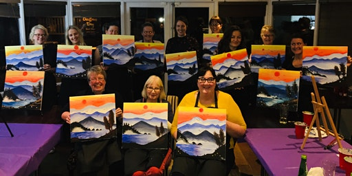 Paint Party Event 'Blue Ridge Mountains' The Oliver Cromwell, St.Ives