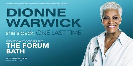 Dionne Warwick 2020( The Forum, Bath) tickets