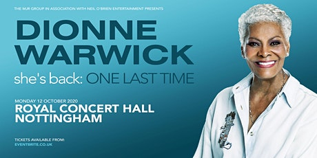 Dionne Warwick 2020 (Royal Concert Hall, Nottingham) tickets