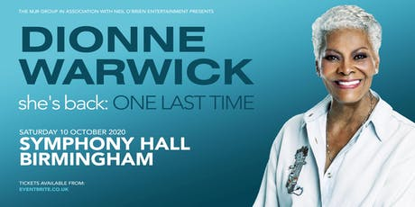 Dionne Warwick 2020 (Symphony Hall, Birmingham) tickets