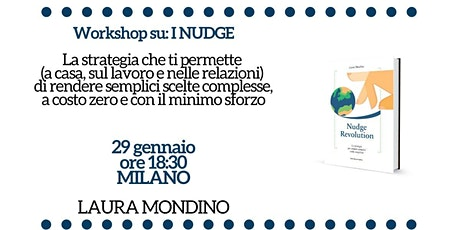 Workshop su Nudge Revolution a Milano biglietti