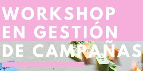 Workshop en Gestión de Campañas entradas