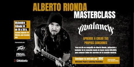 CURSO CREACIÓN DE CANCIONES ALBERTO RIONDA (AVALANCH)/ BARCELONA tickets