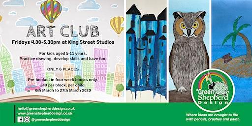 ART CLUB (A Kids Art Club on Fridays - £40 for Four Weeks)