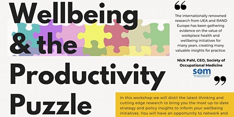 Wellbeing & the Productivity Puzzle tickets