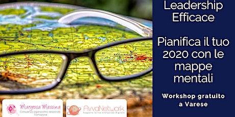 Pianifica il tuo 2020, usa le mappe mentali - Leadership Efficace - biglietti