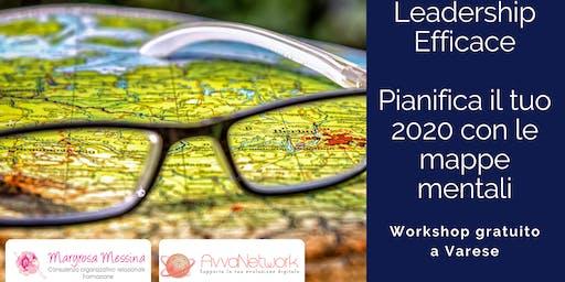 Pianifica il tuo 2020, usa le mappe mentali - Leadership Efficace -