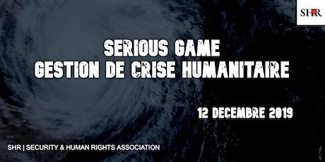 SERIOUS GAME : Gestion de crise humanitaire billets