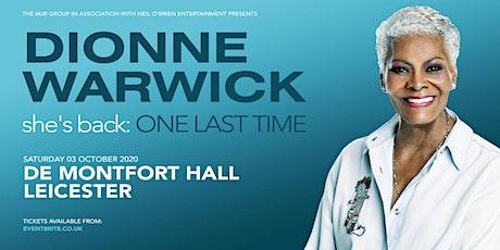 Dionne Warwick 2020 (De Montfort Hall, Leicester) tickets