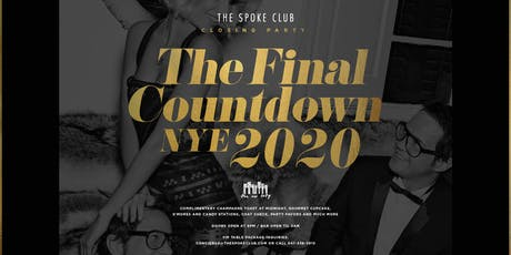 The Final Countdown NYE 2020 at the Spoke Club tickets