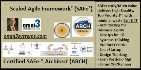 agile ARCH Cert-SAFe4.6-SAFe® for Architects-Bloomington-Illinois-22 PDUs tickets