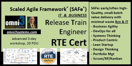 RTE-SAFe-Release-Train-Engineer+Business-agile-scrum-XP-kanban-product-PMI tickets