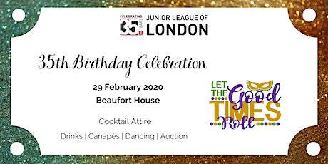 Junior League of London - 35th Birthday Bash  tickets