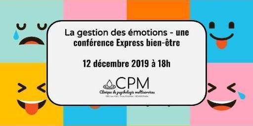 La gestion des émotions - Conférence Express bien-être