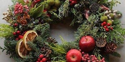 """Atelier """"couronnes de Noël"""" - en collaboration avec Brute de Nature"""