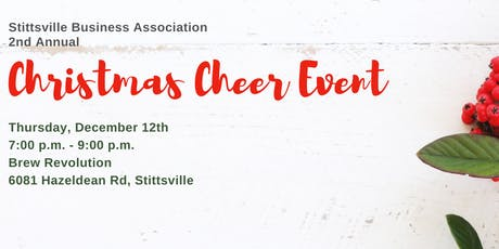Stittsville Business Association 2nd Annual Christmas Cheer Event tickets
