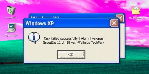 Task failed successfully. CodeAcademy Alumni vakaras
