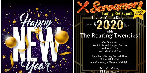 New Years Eve Party:   Ringing in 2020 with The Roaring Twenties!