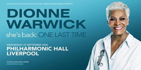 Dionne Warwick 2020 (Philharmonic Hall, Liverpool) tickets
