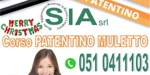 Corso PATENTINO MULETTO il 12 e 13 DICEMBRE 2019 a 145 €