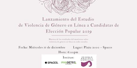 Estudio sobre Violencia de Género en Línea: Candidatas Elecciones 2019 entradas