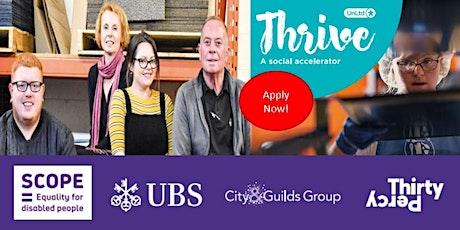 UnLtd Thrive Access to Employment - application Q&A tickets