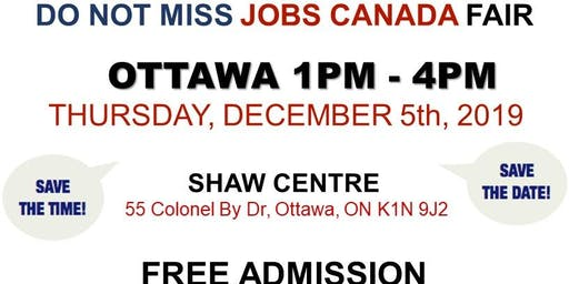 OTTAWA JOB FAIR - December 5th, 2019