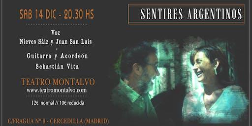 SENTIRES ARGENTINOS  - Nieves Sáiz y Juan San Luis  en concierto