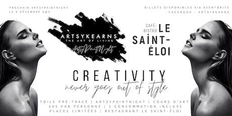 ArtsyPaintNight  Portrait Femme | Restaurant Le Saint-Éloi billets