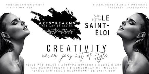 ArtsyPaintNight  Portrait Femme | Restaurant Le Saint-Éloi
