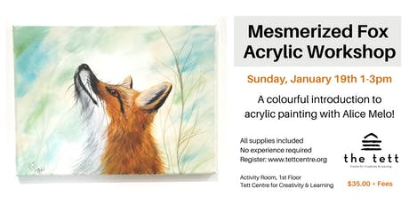 Mesmerized Fox Acrylic Workshop tickets