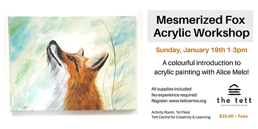 Mesmerized Fox Acrylic Workshop