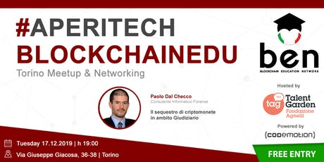 TORINO - Meetup #AperiTech di Blockchain Education Network Italia biglietti