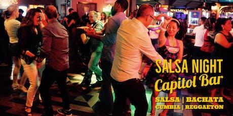 Salsa Night! Salsa, Bachata, Reggaeton Party at Capitol Bar 12/28 tickets