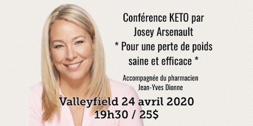 VALLEYFIELD - Conférence KETO - Pour une perte de poids saine et efficace! 25$