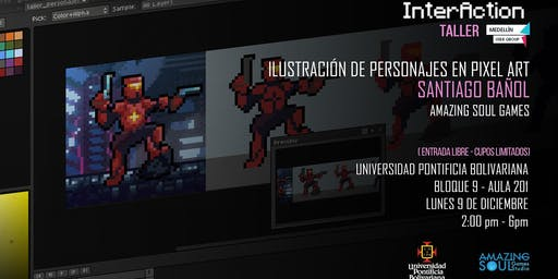 Interaction: Taller ilustración en pixel art
