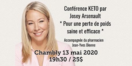 CHAMBLY - Conférence KETO - Pour une perte de poids saine et efficace! 25$ billets
