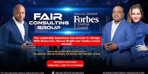 LEADERSHIP  EXPERIENCE TOUR CHICAGO SPEAKING TOUR AUDITIONS 20-20