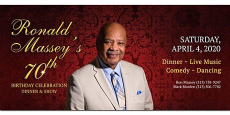 Ronald Massey's 70th Birthday Celebration tickets
