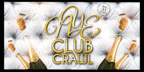 NYE 2020 San Diego Club Crawl to PARQ tickets
