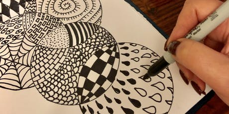 Stress Less with Art Workshop! Easy Drawing FREE class (Adults) tickets