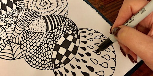 Stress Less with Art Workshop! Easy Drawing FREE class (Adults)