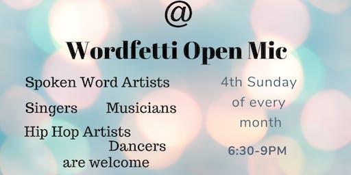 Wordfetti Open Mic (Special date)