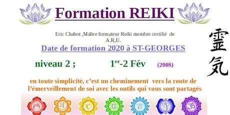 Formation REIKI niveau 2 billets