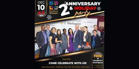 MindShare WorkSpace 2nd Anniversary & Holiday Party! tickets