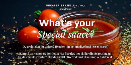 What's your secret sauce? – og er det den du sælger? tickets