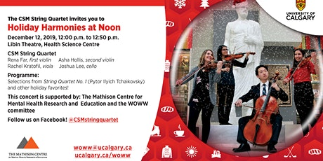 Holiday Harmonies with the CSM String Quartet tickets