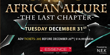 ★ AFRICAN ALLURE ★ New Year's Eve Party tickets