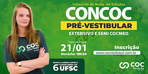 CONCURSO BOLSA DE ESTUDOS COC RIO DO SUL   CONCOC PRÉ-VESTIBULAR 2020